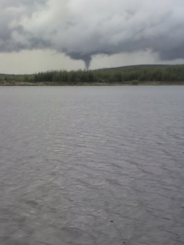 Waterspout over Craggie courtesy of Brian Stapleton